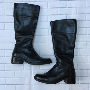 La Canadienne tall black leather boots   size 8.5